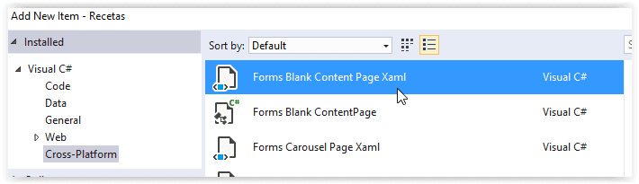 Creando una nueva página