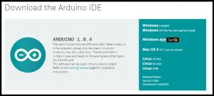 Página de descarga del IDE de Arduino