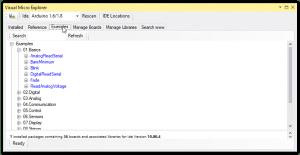 Cargando ejemplos en Arduino IDE for Visual Studio