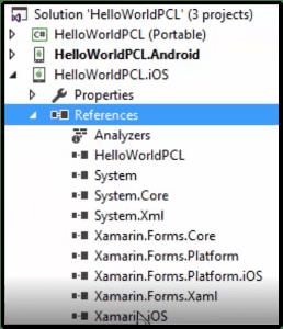 Ejemplo de proyecto tipo Xamarin FormsEjemplo de proyecto tipo Xamarin Forms