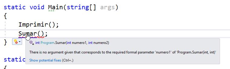 Implementar métodos en C#