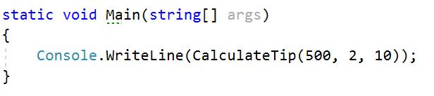 Argumentos Opcionales en C#