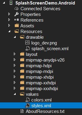 Creando un Theme para un splashscreen en xamarin forms