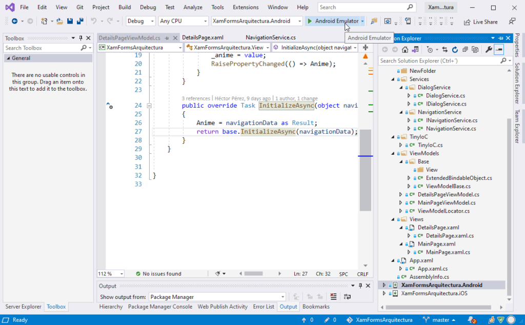 Ejemplo de IDE - Visual Studio 2019